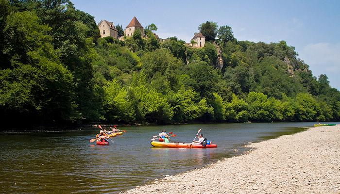Canoë sur Dordogne