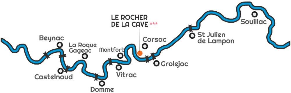 Carte parcours canoës