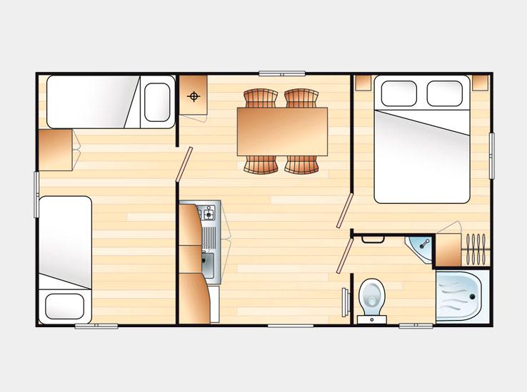 Plan du Mobilhome 4/5 personnes