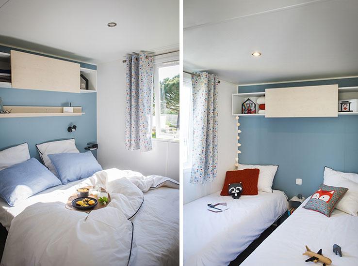Des chambres modernes