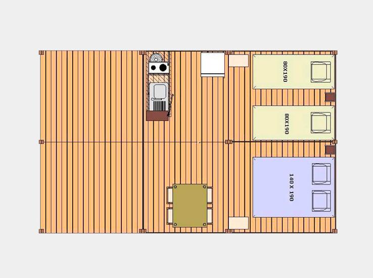 Plan de la Tente Sahari