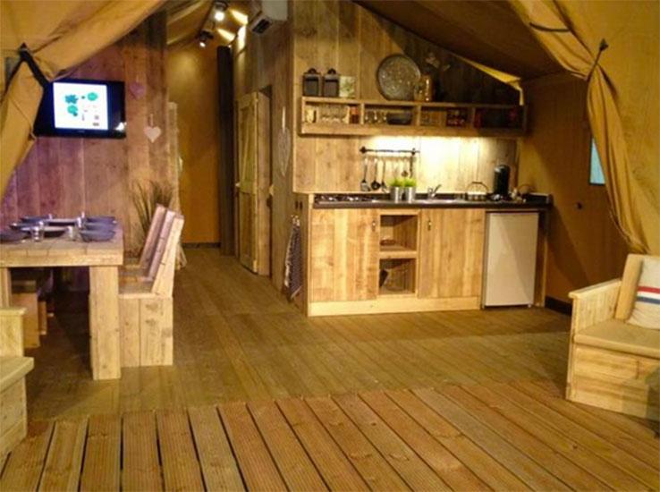 Tente Woody 4 intérieur
