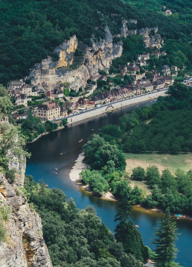 vue sur la Roque Gageac en Dordogne